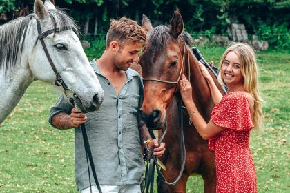 Horseback riding couples
