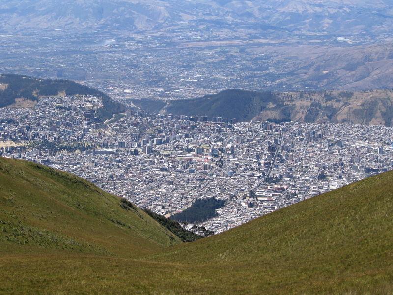 Quito from Teleferiqo