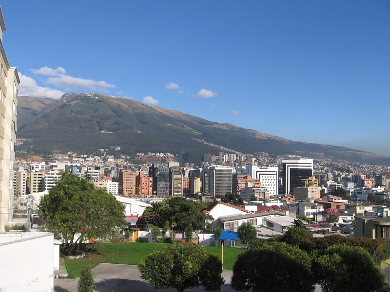 Skyline Republica del Salvador from Eloy Alfaro